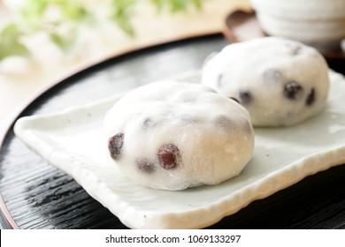 Beans Daifuku mochi. Rice cake stuffed with sweet bean
