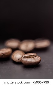 ?offee beans on the dark