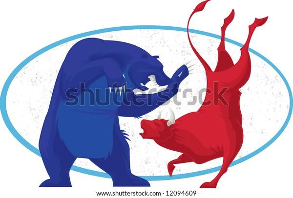 Bear and Bull Stock market icon