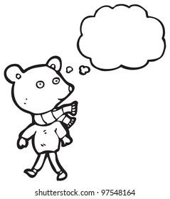 bear in clothes cartoon