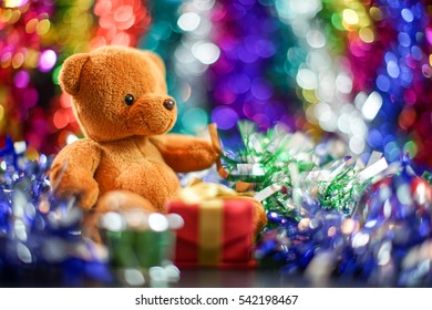 bear doll and decorate of new year festival