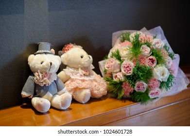 bear doll, love couple . teddy