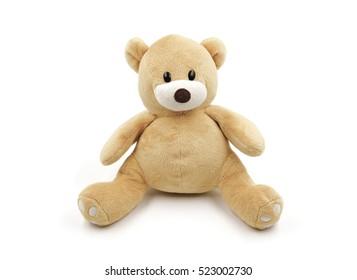 Bear doll on white background