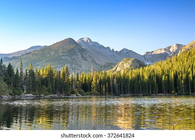 Bear Lake at sunrise. Rocky Mountain National Park, Colorado, United States