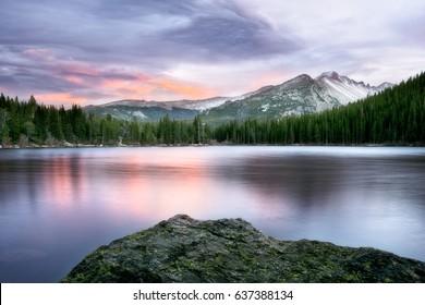 Bear Lake at Sunset, Rocky Mountain National Park