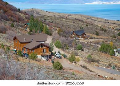 Bear lake, Utah - Idaho border, USA