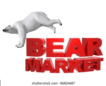 Bear market red lettering