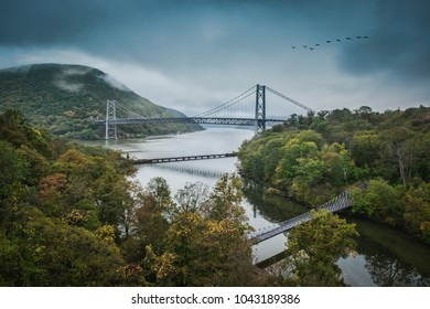 Bear Mountain Bridge and the Hudson River