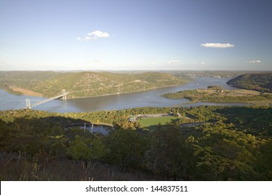 Bear Mountain Bridge and Hudson Valley and River at Bear Mountain State Park, New York