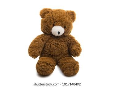 Bear soft toy isolated on white background