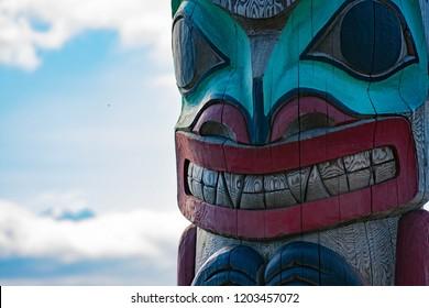 Bear Totem in Haines Alaska