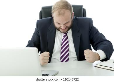 beard business man  frustrated