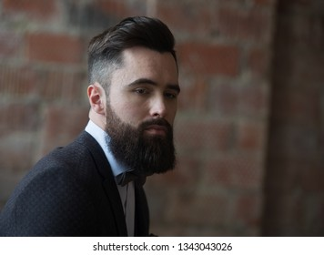 Bearded guy in a suit portraite