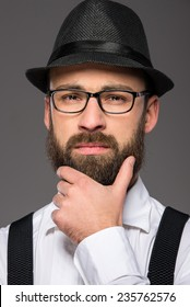 Hipster Beard Glasses Stock Photos, Images & Photography