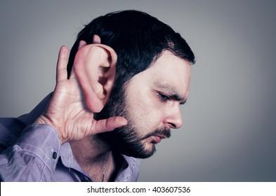 bearded man with the big ear