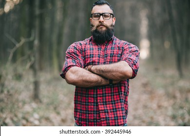 Bearded man. Lumberjack.