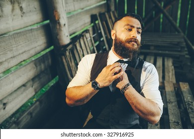 bearded man with a very interesting look