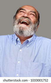 Bearded Old Grandfather Laughing