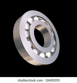 The bearing on a black background. 3D image.