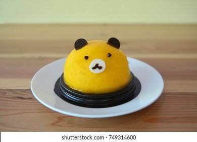 Bear's Head Orange cake on a  plate