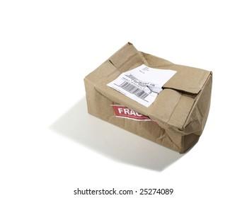 Beat up Cardboard Box