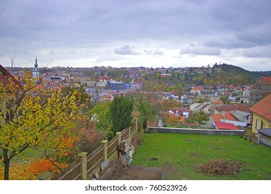 Beatificul view in Jewish ditrict of town of Trebic in Czech Republic.