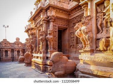 Beatiful ancient Hindu temple, Kanchipuram, Tamil Nadu, India