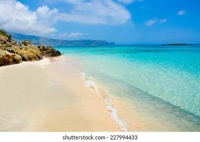 Beatiful beach of Elafonisi - Beach in Crete, Greece