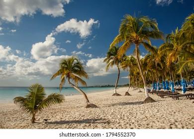 Beatiful beaches of Riviera maya in Tulum, Mexico