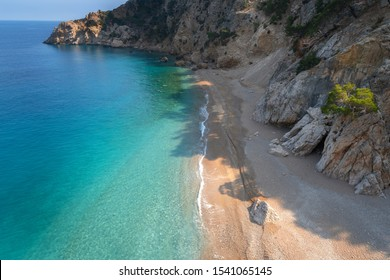 Beatiful coastline near Apella beach,Karpathos island,Greece