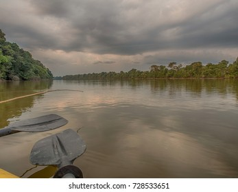 Beatiful, corolful and diversified landscape over the Lagoon San Antonio, Peru, Amazonia