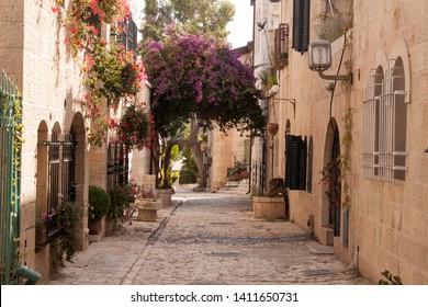 A beatiful little street in Yumin Moshe place (Jerusalem)