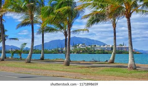 Beatiful Promenade Pierre Vernier, along Sainte-Marie Bay, Nouméa, New Caledonia.