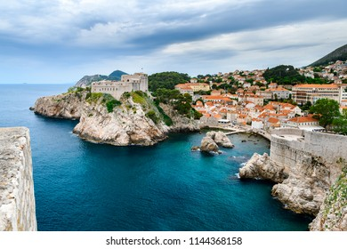 Beatiful view of famous Dubrovnik old & world heritage city of Croatia