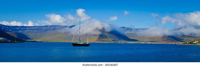 Beatiful view of scandinavian norwegian icelandic fjords