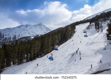 Beatifull slope in the Alps, Soelden, Austria
