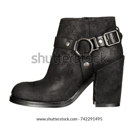 Beatles black leather high