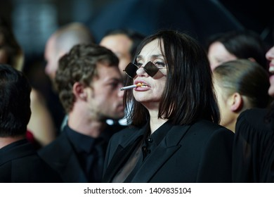 """Beatrice Dalle  attends the screening of """"Lux Aeterna"""" during the 72nd annual Cannes Film Festival on May 18, 2019 in Cannes, France."""
