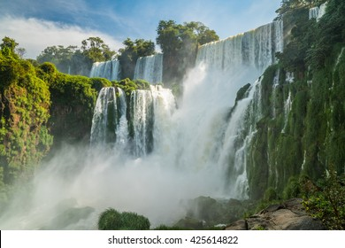 Beatuful view point of Iguazu Falls, Argentina
