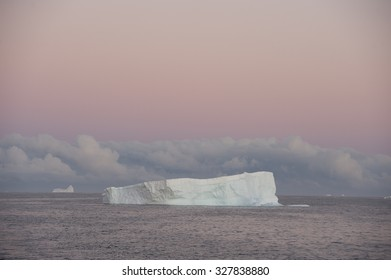 Beatyful Icebergs in Antarctica travel on the ship