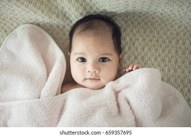 Beaufiful caucasian infant baby girl