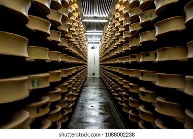 Beaufort cheese factory in savoy