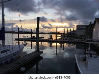 Beaufort, NC at sunset