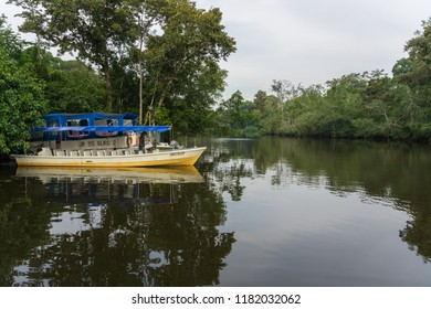 Beaufort, Sabah, Malaysia-September 16, 2018 : Unidentified Tourist and visitor taking a WILDLIFE SAFARI RIVER CRUISE at Kota Klias, Beaufort, Sabah Borneo for see the beautiful nature rainforest