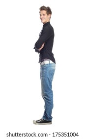 Beauiful young man posing