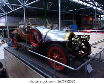 Beaulieu Motor Museum, Brockenhurst / UK - May 27, 2012: the famous GEN 11, Chitty Chitty Bang Bang car created for the film