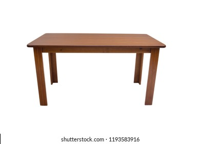 Beaultiful table wood on white background.