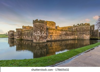 Beaumaris Castle in Anglesey, North Wales.