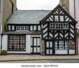 Beaumaris, Wales - September 2nd 2020: One of the oldest buildings in Great Britain - built in around 1400, it is located in the town of Beaumaris on the Isle of Anglesey in Wales, UK.