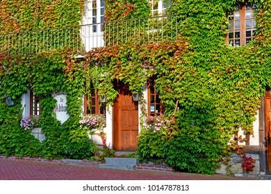 Beaumont en Auge; France - august 8 2016 : the picturesque village